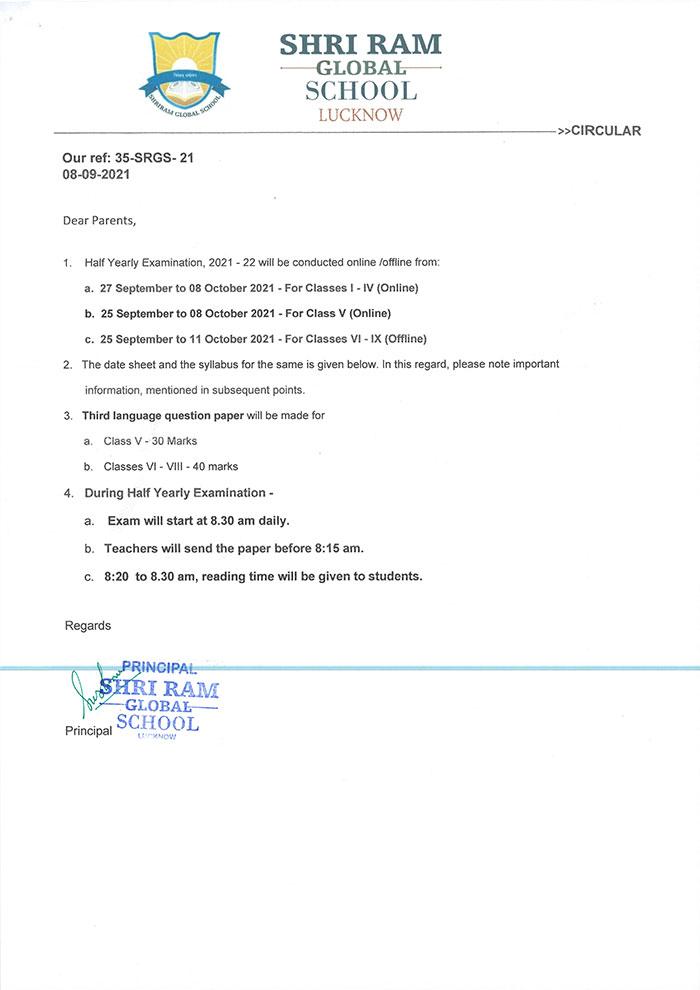 Half Yearly Exam Date sheet 08 09 21 1