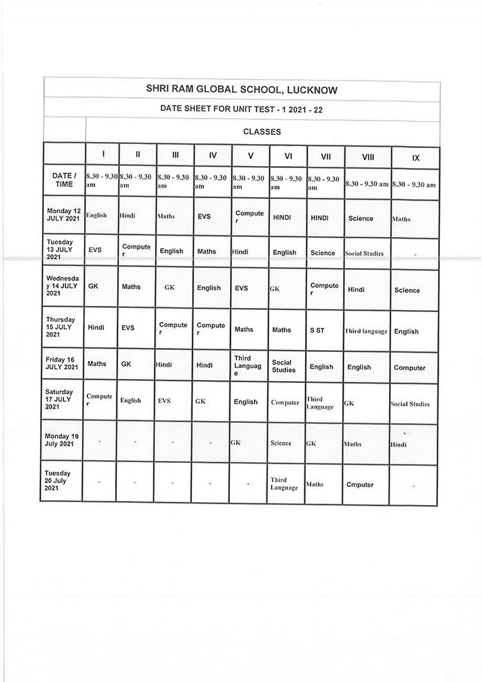 UT 1 Date Sheet 11 06 21 2